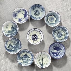 10 stuks huishoudelijke hand geschilderde keramiek Kung Fu thee set theekopje Tea Bowl  grootte: grote