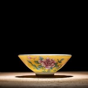 Pastel schilderij goud glazuur Flower keramische thee Cup