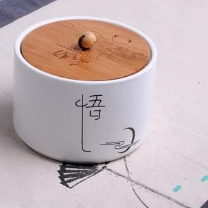 Ceramic Sealed Storage Tea Can, Size: 10 x 7cm, Chinese Characters: Realize