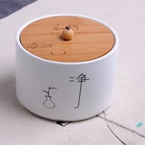 Ceramic Sealed Storage Tea Can, Size: 10 x 7cm, Chinese Characters: Cleanse