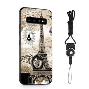 Painted 3D Embossed Shockproof Case with Holder For Galaxy S10+(Tower)