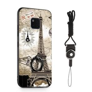 Painted 3D Embossed Shockproof Case with Holder For Huawei Mate 20 Pro(Tower)