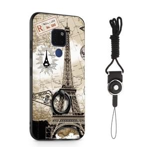 Painted 3D Embossed Shockproof Case with Holder For Huawei Mate 20(Tower)