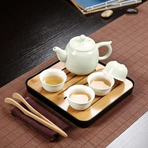 Outdoor Travel Mini Portable Ceramics Teaware Set Without Travel Box, Pattern:Wishful