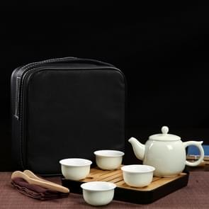 Outdoor Travel Mini Portable Ceramics Teaware Set With Travel Box, Pattern:Wishful