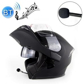 Soman 955 Skyeye Motorcycle Full / Open Face Bluetooth Helmet Headset Full Face, Supports Answer / Hang Up Calls, Size:L, 59-60cm(Matte Black)