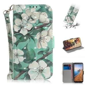 3D Painting  Pattern Coloured Drawing Horizontal Flip Leather Case for Xiaomi Redmi 7A, with Holder & Card Slots & Wallet(Watercolor Flower)
