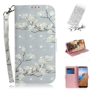 3D Painting  Pattern Coloured Drawing Horizontal Flip Leather Case for Xiaomi Redmi 7A, with Holder & Card Slots & Wallet(Mognolia)