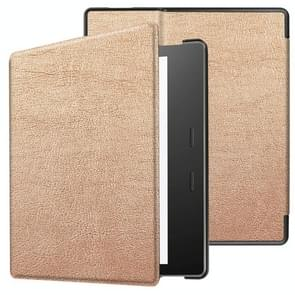Tri-fold Cowhide Texture Horizontal Flip Leather Case for Amazon Kindle oasis (2019), with Holder & Sleep / Wake-up Function(Rose Gold)