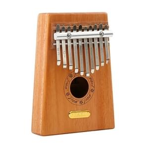 Thumb Piano Kalimba 10-tone Finger Piano Beginners Entry Portable Musical Instrument Kalimba Finger Piano(Wood color)