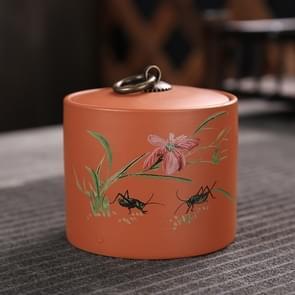 Ceramic Redware Tea Pot Storage Sealed Tea Tank(Orchid)