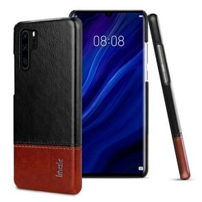 IMAK Ruiyi Series Concise Slim PU + PC Protective Case for Huawei P30 Pro(Black+Brown)