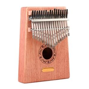 Thumb Piano Kalimba 17-tone Finger Piano Beginners Entry Portable Musical Instrument Kalimba Finger Piano(Wood Color)