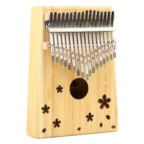 Thumb Piano Kalimba 17-tone Finger Piano Beginners Entry Portable Musical Instrument Kalimba Finger Piano(Lucky flower)