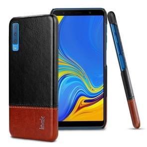 IMAK Ruiyi Series Concise Slim PU + PC Protective Case for Galaxy A7 (2018)(Black+Brown)