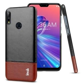 IMAK Ruiyi Series Concise Slim PU + PC Protective Case for Asus Zenfone Max Pro (M2) ZB631KL(Black+Brown)