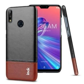 IMAK Ruiyi Series Concise Slim PU + PC Protective Case for Asus Zenfone Max (M2) ZB633KL(Black+Brown)