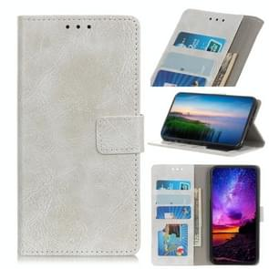 Magnetic Retro Crazy Horse Texture Horizontal Flip Leather Case with Holder & Card Slots & Wallet for HTC D19+(White)