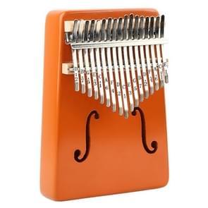 Thumb Piano Kalimba 17-tone Finger Piano Beginners Entry Portable Musical Instrument Kalimba Finger Piano(Orange)