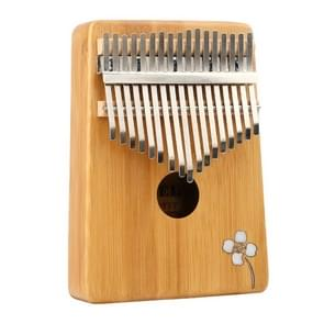 Thumb Piano Kalimba 17-tone Finger Piano Beginners Entry Portable Musical Instrument Kalimba Finger Piano(Golden bamboo)