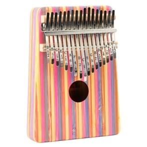 Thumb Piano Kalimba 17-tone Finger Piano Beginners Entry Portable Musical Instrument Kalimba Finger Piano(Red Color Bamboo)
