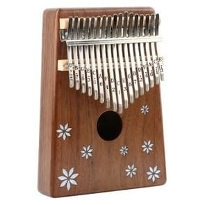 Thumb Piano Kalimba 17-tone Finger Piano Beginners Entry Portable Musical Instrument Kalimba Finger Piano(Seven-leaf Flower)