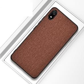 Shockproof Cloth Texture PC+ TPU Protective Case for iPhone XI Max 2019(Brown)