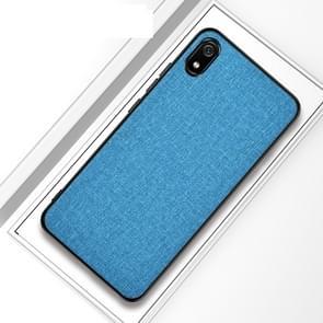 Schokbestendige doek textuur PC + TPU beschermende case voor iPhone XI Max 2019 (hemelsblauw)