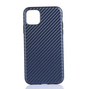 Carbon Fibre TPU Protective Case for iPhone 11 Pro(Blue)