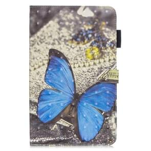 3D Horizontal Flip Leather Case with Holder & Card Slots For Galaxy Tab A 10.5(Blue Butterfly)
