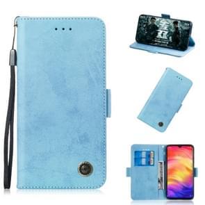 Multifunctionele horizontale Flip retro lederen draagtas met kaartsleuf & houder voor Nokia 3 1 plus (hemelsblauw)
