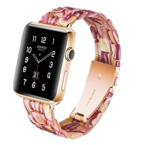 Simple Fashion Resin Watch Strap for Apple Watch Series 5 & 4 40mm & Series 3 & 2 & 1 38mm(Red)