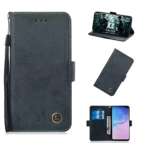 Multifunctional Horizontal Flip Retro Leather Case with Card Slot & Holder for Galaxy S10+(Black)