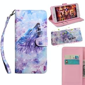 3D Painting Pattern Coloured Drawing Horizontal Flip TPU + PU Leather Case with Holder & Card Slots & Wallet For Lenovo C2 K10A40(Roaring Wolf)
