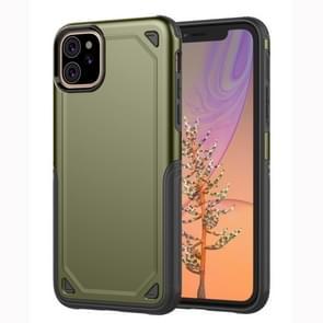 Schokbestendig robuuste Armor beschermende case voor iPhone 11 (Army Green)
