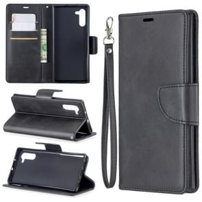 Retro Lambskin Texture Pure Color Horizontal Flip PU Leather Case with Holder & Card Slots & Wallet & Lanyard for Galaxy Note10(Black)