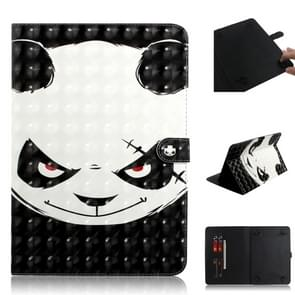 3D Colored Drawing Universal Horizontal Flip Leather Case, with Holder & Card Slot & Wallet for 8 inch Tablet PC(Angry Bear)