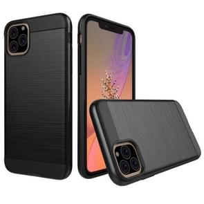 Brushed Texture Shockproof Rugged Armor Protective Case for iPhone 11 Pro(Black)