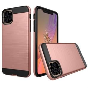 Brushed Texture Shockproof Rugged Armor Protective Case for iPhone XI Max (2019)(Rose Gold)