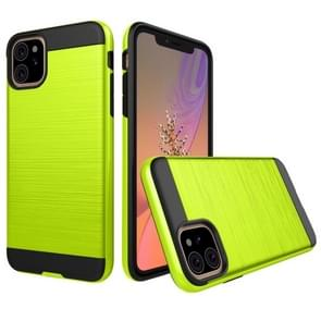 Brushed Texture Shockproof Rugged Armor Protective Case for iPhone XIR (2019)(Green)