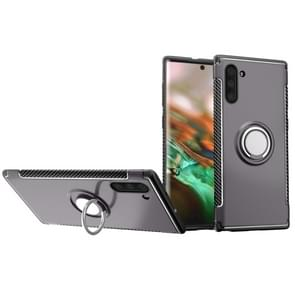Magnetic 360 Degrees Rotation Ring Armor Phone Protective Case for Galaxy Note 10(Grey)