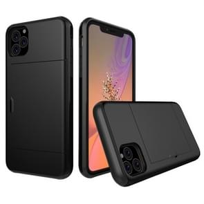 Shockproof Rugged Armor Protective Case with Card Slot for iPhone XI Max (2019)(Black)