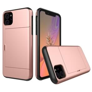 Shockproof Rugged Armor Protective Case with Card Slot for iPhone XIR (2019)(Rose Gold)