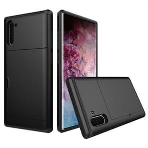 Shockproof Rugged Armor Protective Case with Card Slot for Galaxy Note 10(Black)