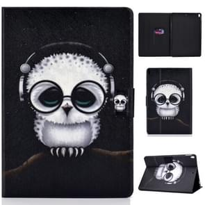 Colored Drawing Universal Voltage Craft Cloth TPU Protective Case, with Holder & Sleep / Wake-up Function & Card Slots & Anti-slip Strip for iPad Pro 10.5 Inch / iPad Air (2019)(Spectacled Cat)
