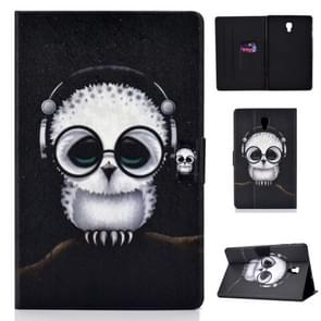 Colored Drawing Universal Voltage Craft Cloth TPU Protective Case, with Holder & Sleep / Wake-up Function & Card Slots & Anti-slip Strip for Galaxy Tab A 10.5 T590 / T595(Spectacled Cat)