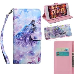 3D Painting Pattern Coloured Drawing Horizontal Flip TPU + PU Leather Case with Holder & Card Slots & Wallet For Huawei  P30 Pro(Roaring Wolf)