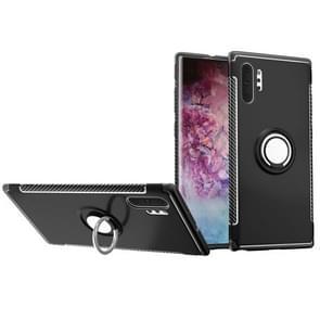 Magnetische Armor beschermende case met 360 graden rotatie ring houder voor Galaxy Note 10 Pro (zwart)