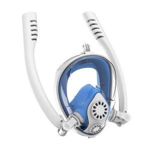 Watersport duikuitrusting full dry siliconen duikmasker zwembril voor GoPro HERO7 /6 / 5 /5 Sessie /4 /3+ /3 /2 /1  Grootte:S/M(Wit Blauw)