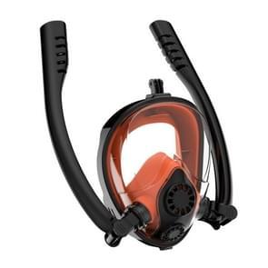 Watersport duikuitrusting full dry siliconen duikmasker zwembril voor GoPro HERO7 /6 / 5 /5 Sessie /4 /3+ /3 /2 /1  Grootte:S/M(Zwart Oranje)